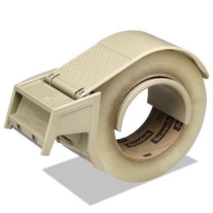 """Picture of Compact and Quick Loading Dispenser for Box Sealing Tape, 3"""" Core, Plastic, Gray"""