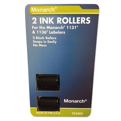 Picture of 925403 Replacement Ink Rollers, Black, 2/Pack