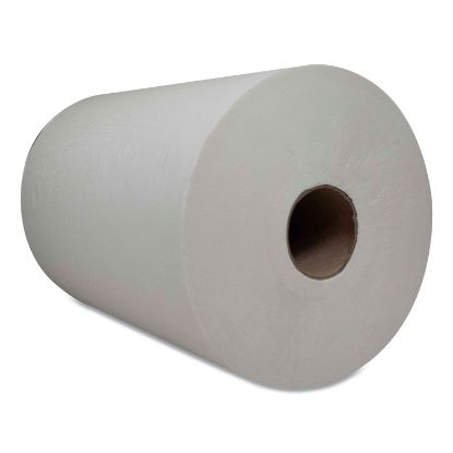 """Picture of 10 Inch TAD Roll Towels, 1-Ply, 7.25"""" x 500 ft, White, 6 Rolls/Carton"""