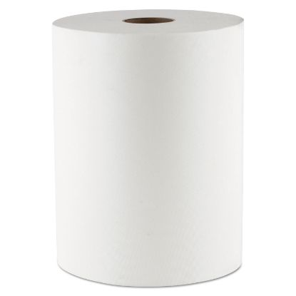 """Picture of 10 Inch TAD Roll Towels, 1-Ply, 10"""" x 550 ft, White, 6 Rolls/Carton"""