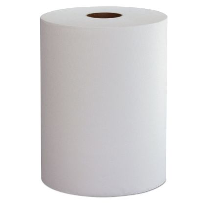 """Picture of 10 Inch Roll Towels, 1-Ply, 10"""" x 800 ft, White, 6 Rolls/Carton"""