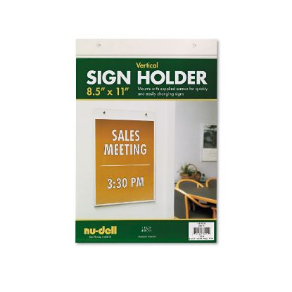 Picture of Acrylic Sign Holder, Vertical, 8 1/2 x 11, Clear