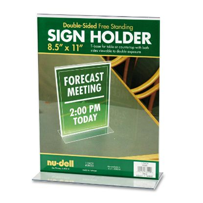 Picture of Acrylic Sign Holder, 8 1/2 x 11, Clear