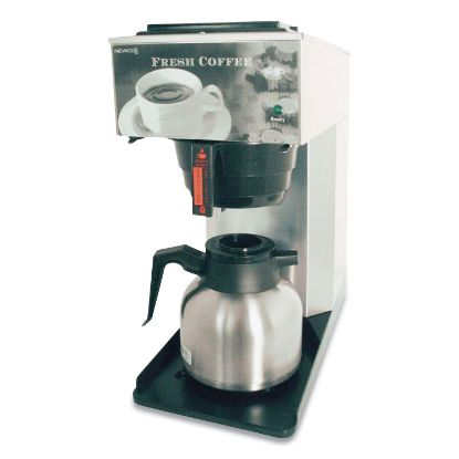 Picture of AK-TC Pour-Over Thermal Carafe Coffee Brewer, 12-Cup, Stainless Steel/Black