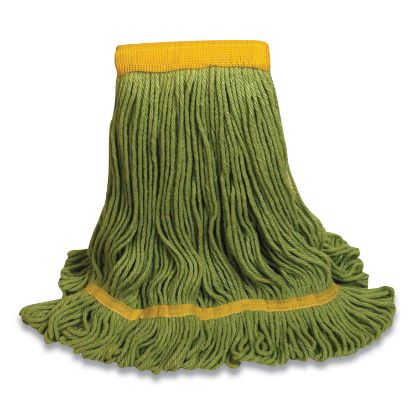 """Picture of 1400 Series Mop Head, Cotton/Rayon/Synthetic Blend, Medium, 5"""" Headband, Green"""