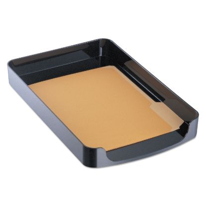 """Picture of 2200 Series Front-Loading Desk Tray, 1 Section, Legal Size Files, 10.25"""" x 15.38"""" x 2"""", Black"""