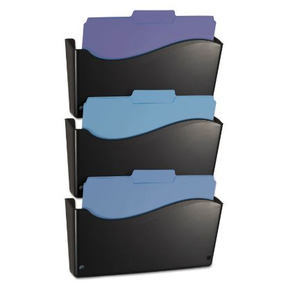 Picture of 2200 Series Wall File System, Letter, Black, 3/Pack