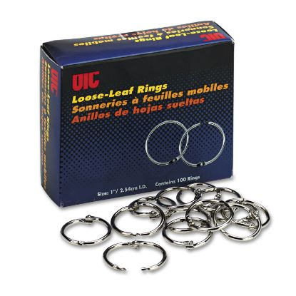 """Picture of Book Rings, 1"""" Diameter, 100/Box"""