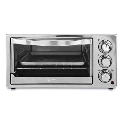 Picture of Convection Toaster Oven, 6-Slice, 16.8 x 13.1 x 9, Stainless Steel/Black