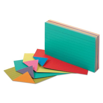 Picture of Extreme Index Cards, 3 x 5, Vivid Assorted, 100/Pack