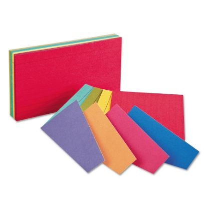Picture of Extreme Index Cards, 4 x 6, Two-Tone Assorted, 100/Pack