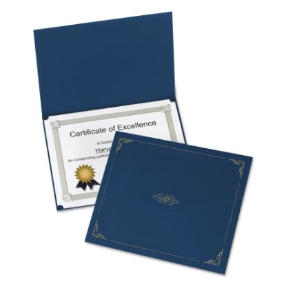 Picture of Certificate Holder, 11 1/4 x 8 3/4, Dark Blue, 5/Pack