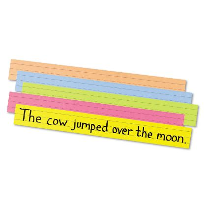 Picture of Sentence Strips, 24 x 3, Assorted Bright Colors, 100/Pack