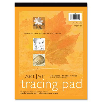 Picture of Art1st Parchment Tracing Paper, 16 lb, 9 x 12, White, 50/Pack