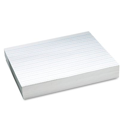 """Picture of Alternate Dotted Newsprint Paper, 3/4"""" Two-Sided Long Rule, 8.5 x 11, 500/Pack"""