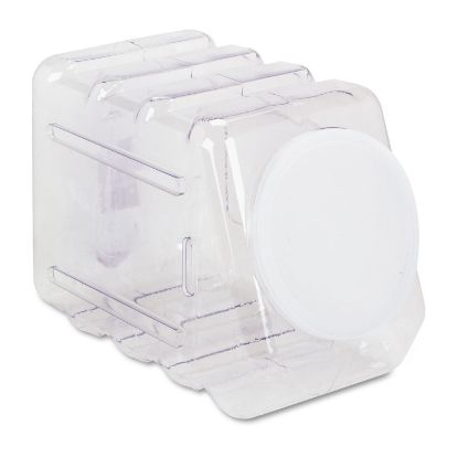 Picture of Interlocking Storage Container with Lid, Clear Plastic
