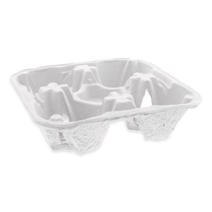 Picture of EarthChoice Four-Cup Carrier with Food Tray, 8-32 oz, Four Cups, 300/Carton