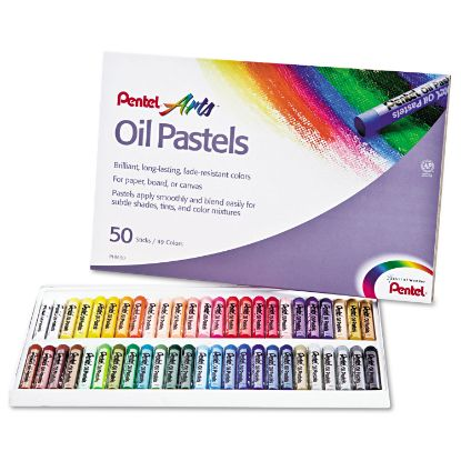 Picture of Oil Pastel Set With Carrying Case,45-Color Set, Assorted, 50/Set