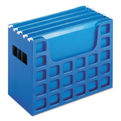 """Picture of Desktop File With Hanging Folders, Letter Size, 6"""" Long, Blue"""