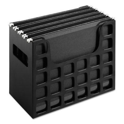 "Picture of Desktop File With Hanging Folders, Letter Size, 6"" Long, Black"