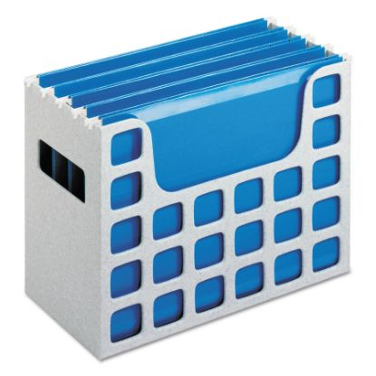 """Picture of Desktop File With Hanging Folders, Letter Size, 6"""" Long, Granite"""
