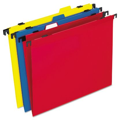 Picture of 2-in-1 Colored Poly Folders with Built-in Tabs, Letter Size, 1/3-Cut Tab, Assorted, 10/Pack