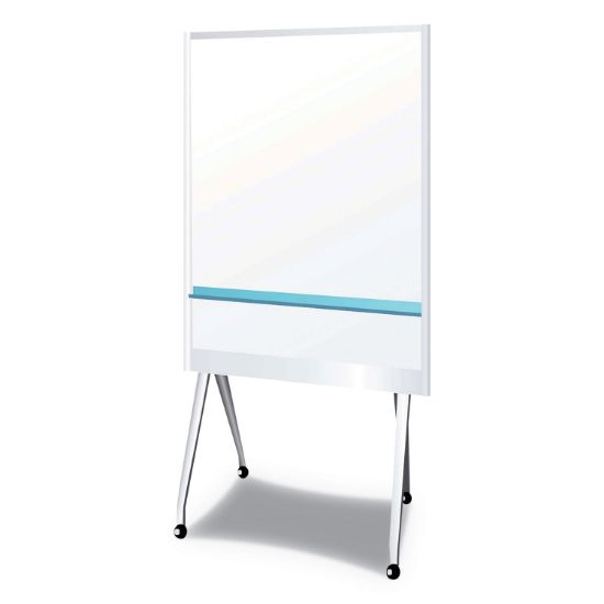 """Picture of Mobile Partition Board LG, 38 3/10"""" x 70 4/5"""", White, Aluminum Frame"""