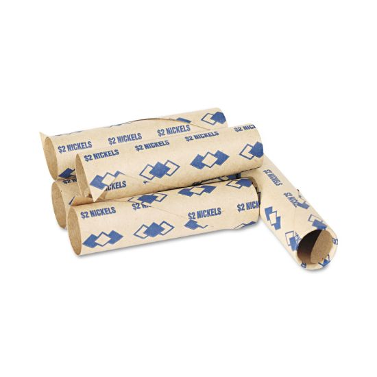 Picture of Preformed Tubular Coin Wrappers, Nickels, $2, 1000 Wrappers/Carton