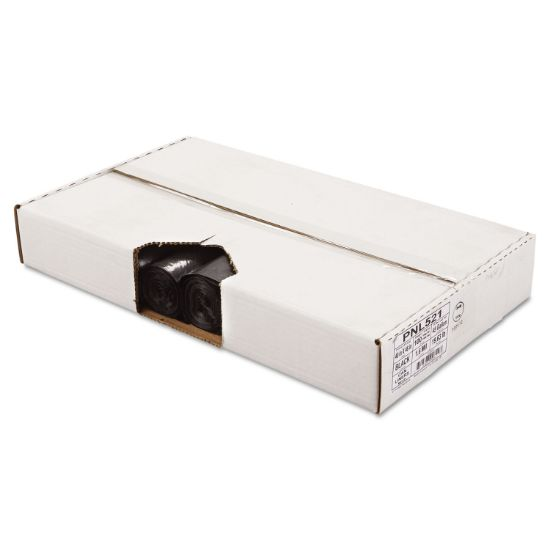"""Picture of Linear Low Density Can Liners, 45 gal, 1.6 mil, 40"""" x 46"""", Black, 100/Carton"""