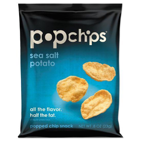 Picture of Potato Chips, Sea Salt Flavor, 0.8 oz Bag, 24/Carton