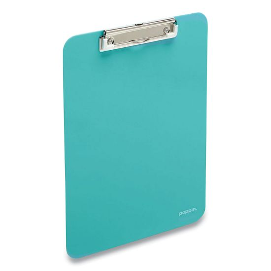 Picture of Plastic Clipboard, Holds 8.5 x 11 Sheets, Aqua