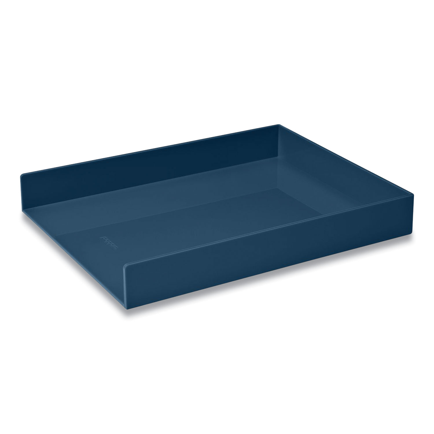 Picture of Stackable Letter Trays, 1 Section, Letter Size Files, 9.75 x 12.5 x 1.75, Slate Blue