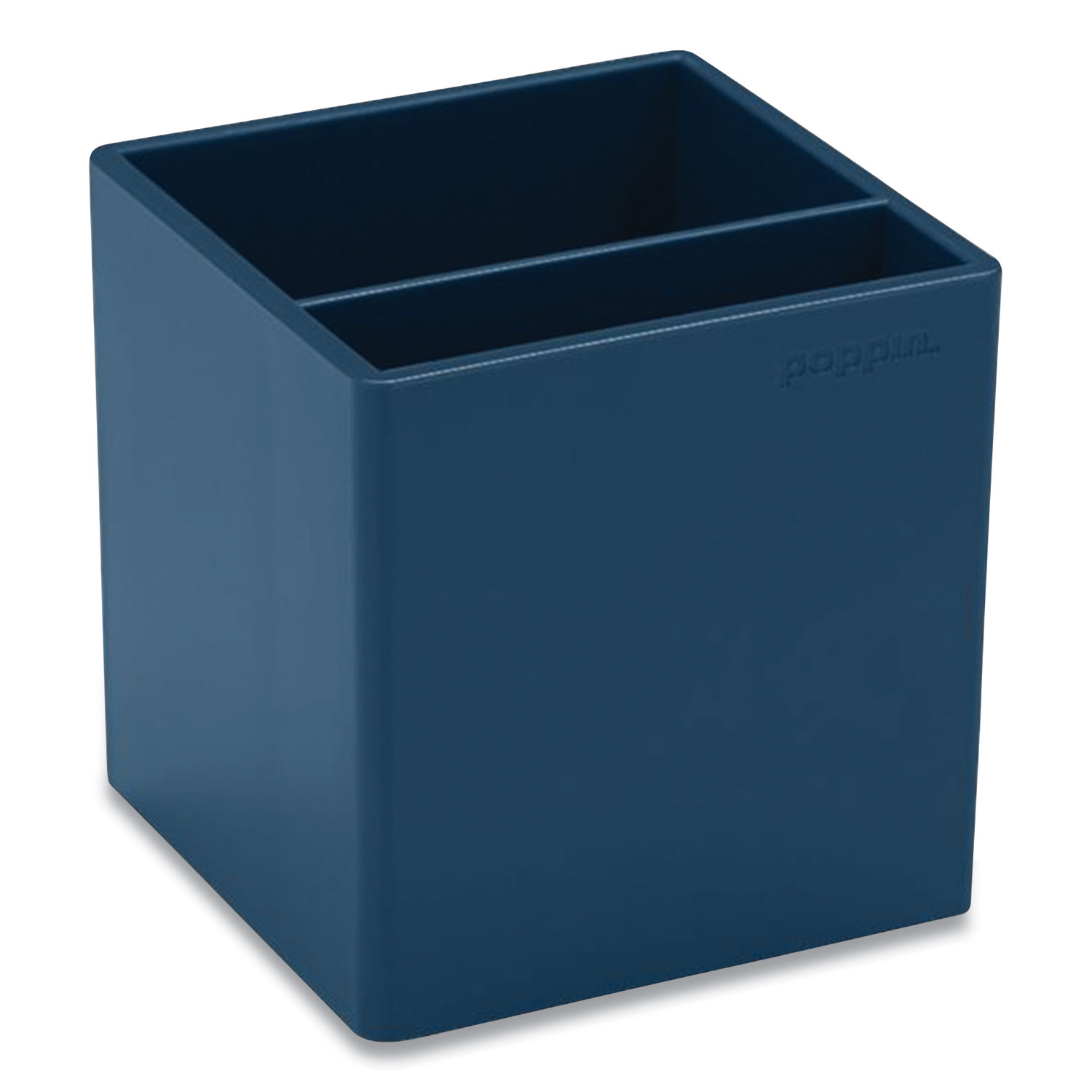 Picture of Pen Cup, 3.25 x 3.25 x 3.25, Plastic, Slate Blue
