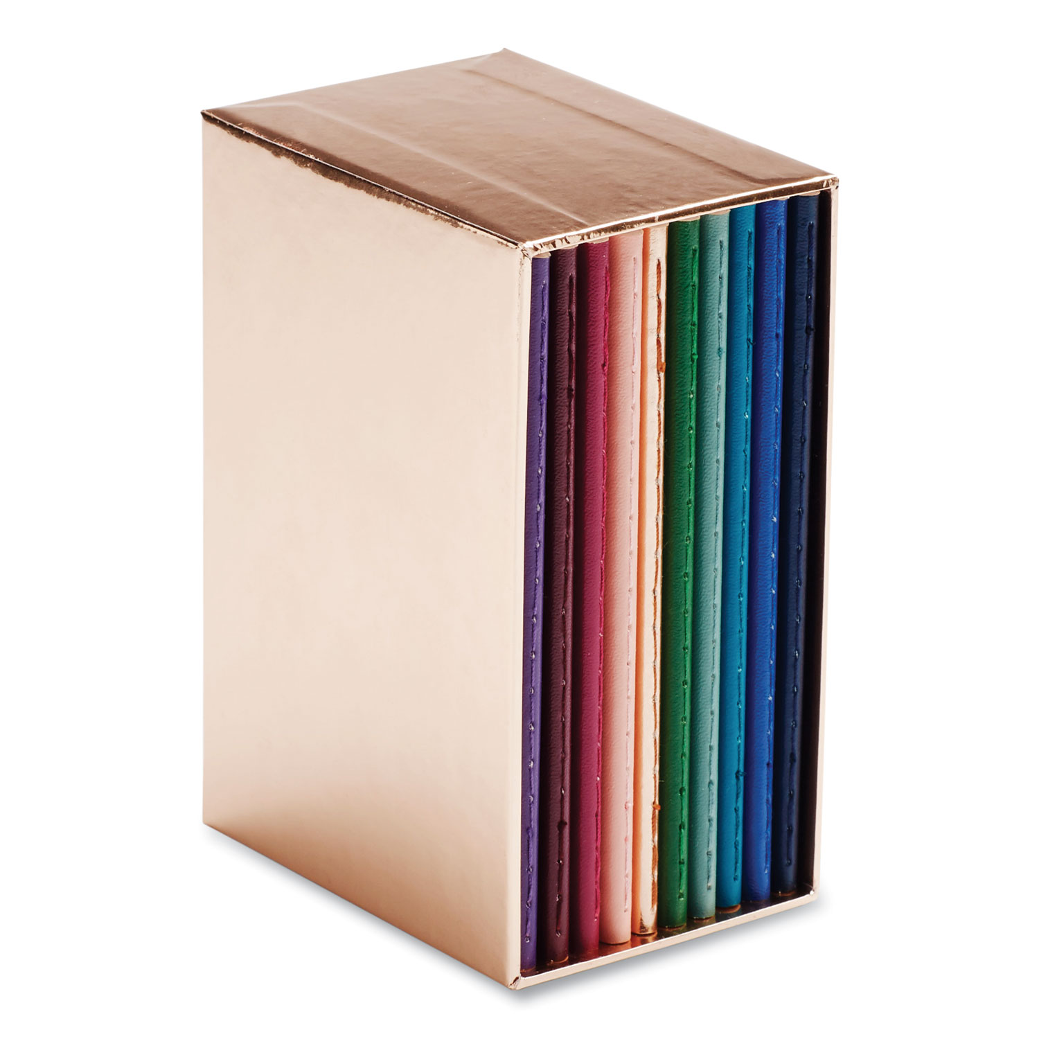 Picture of Mini Medley Professional Notebooks, Wide Rule, Assorted Jewel Tone, 5 x 3.5, 10/Pack