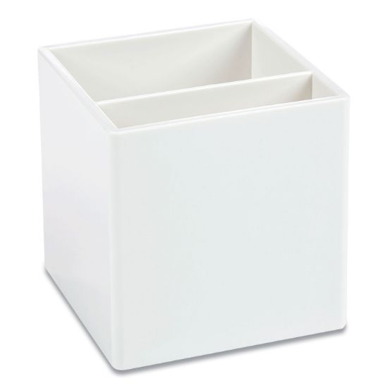 Picture of Pen Cup, 3.25 x 3.25 x 3.25, Plastic, White