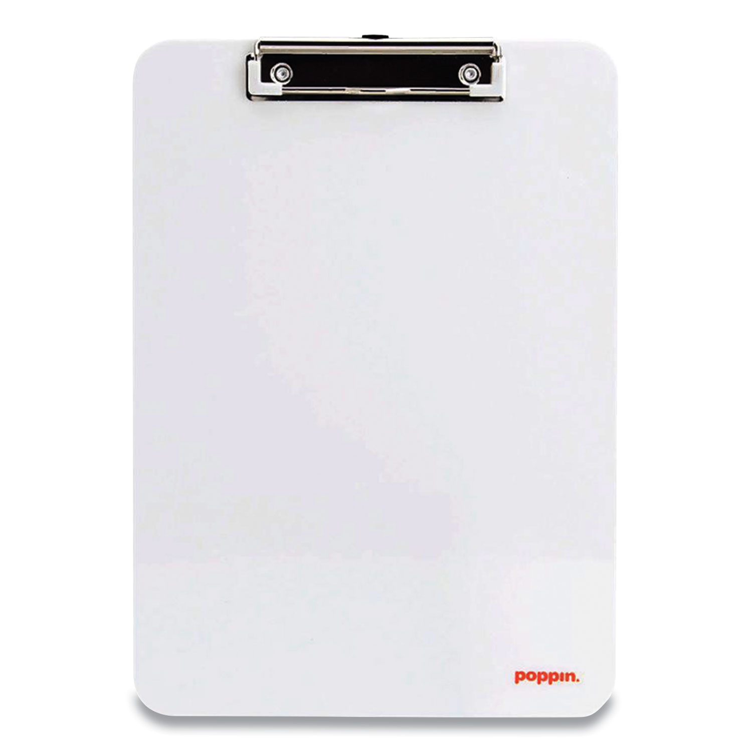 Picture of Plastic Clipboard, Holds 8.5 x 11 Sheets, White