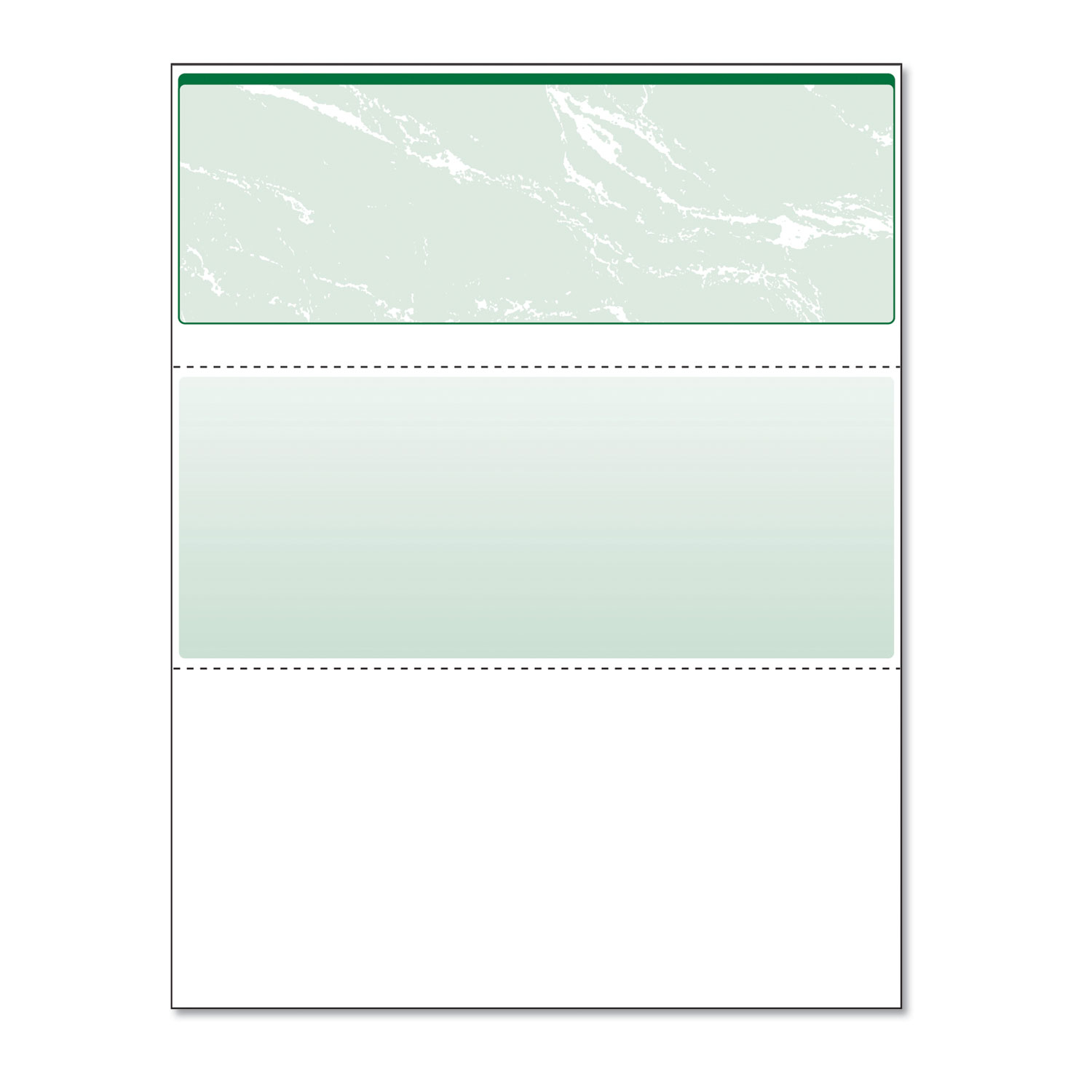 Picture of Standard Security Check, 11 Features, 8.5 x 11, Green Marble Top, 500/Ream