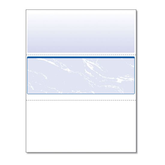 Picture of Standard Security Check, 11 Features, 8.5 x 11, Blue Marble Middle, 500/Ream