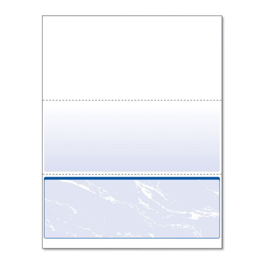 Picture of Standard Security Check, 11 Features, 8.5 x 11, Blue Marble Bottom, 500/Ream