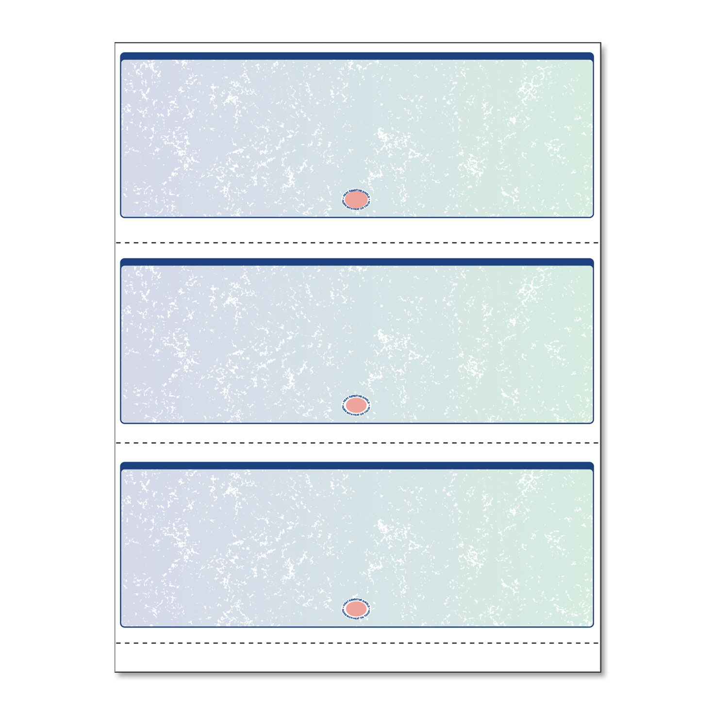 Picture of Premier Prismatic Check, 13 Features, 8.5 x 11, Blue/Green Prismatic, 500/Ream