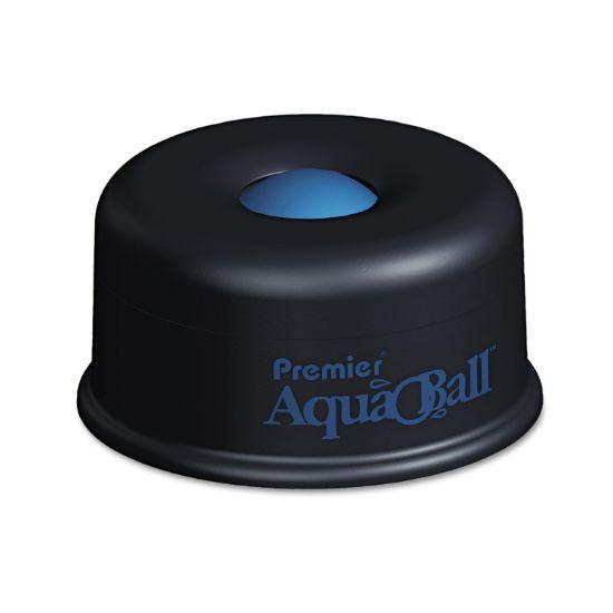 "Picture of AquaBall Floating Ball Envelope Moistener, 1 1/4"" x 1 1/4"" x 5 3/8"", Black, Blue"