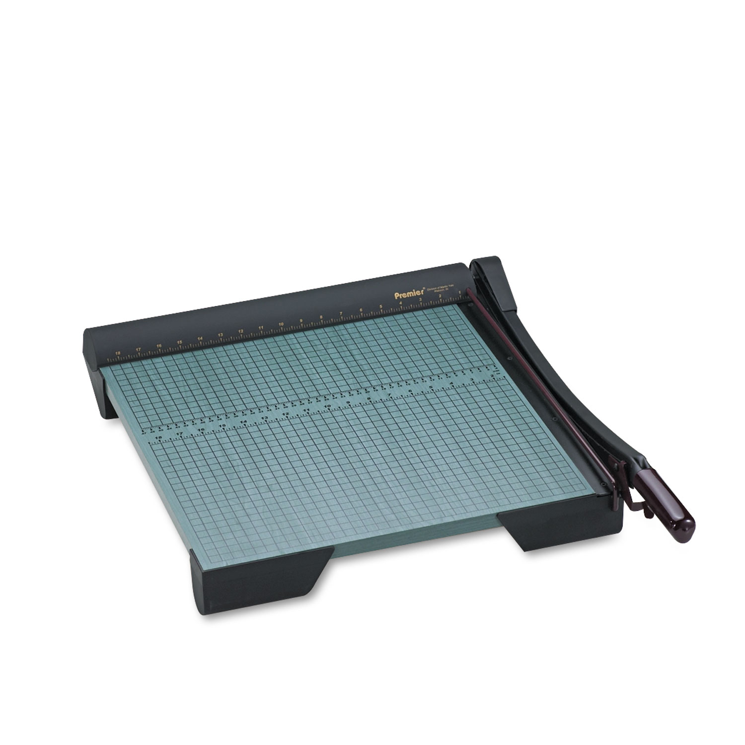 """Picture of The Original Green Paper Trimmer, 20 Sheets, Wood Base, 19 1/8"""" x 21 1/8"""""""
