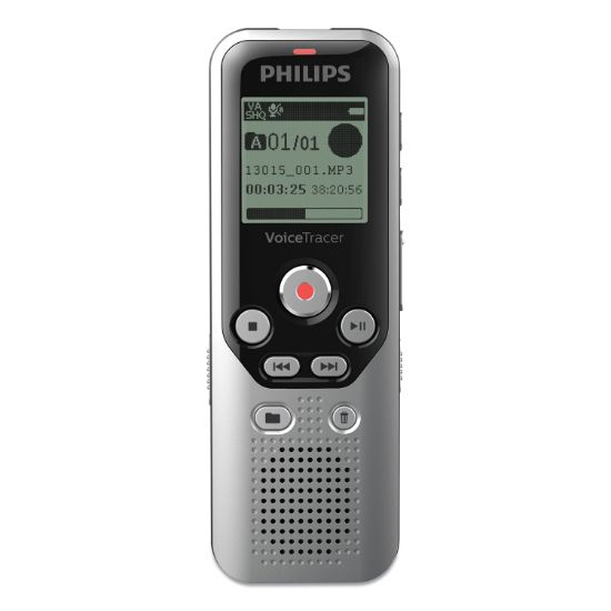 Picture of Digital Voice Tracer 1250 Recorder, 8 GB, Black/Silver