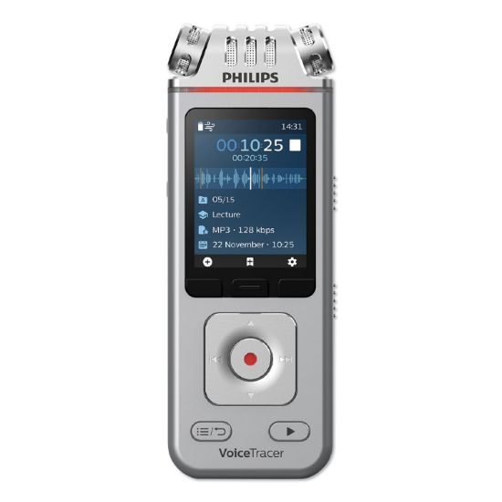 Picture of Voice Tracer 4110 Digital Recorder, 8 GB, Silver
