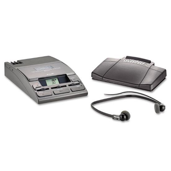 Picture of 720-T Desktop Analog Mini Cassette Transcriber Dictation System w/Foot Control