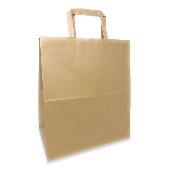 Picture of Kraft Paper Bags, 1/7th BBL 12 x 7 x 14, Natural, 300/Bundle