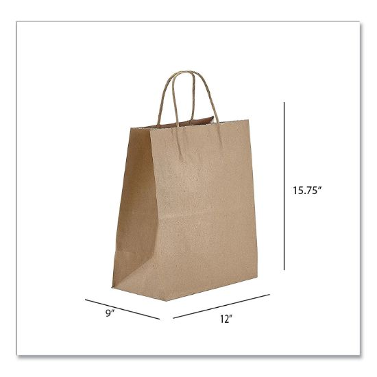 Picture of Kraft Paper Bags, Regal, 12 x 9 x 15.75, Natural, 200/Carton