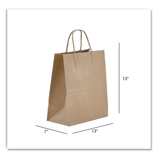 Picture of Kraft Paper Bags, Jr. Mart, 13 x 7 x 13, Natural, 250/Carton