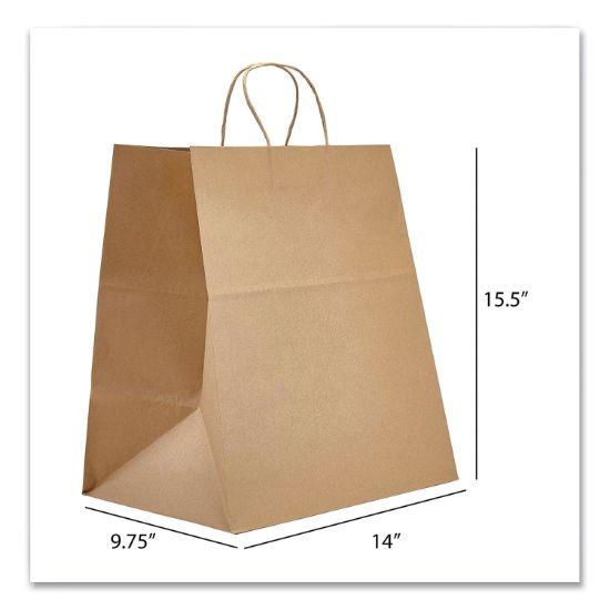 Picture of Kraft Paper Bags, Super Royal, 14 x 9.75 x 15.5, Natural, 200/Carton
