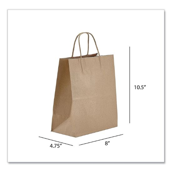 Picture of Kraft Paper Bags, Tempo, 8 x 4.75 x 10.5, Natural, 250/Carton